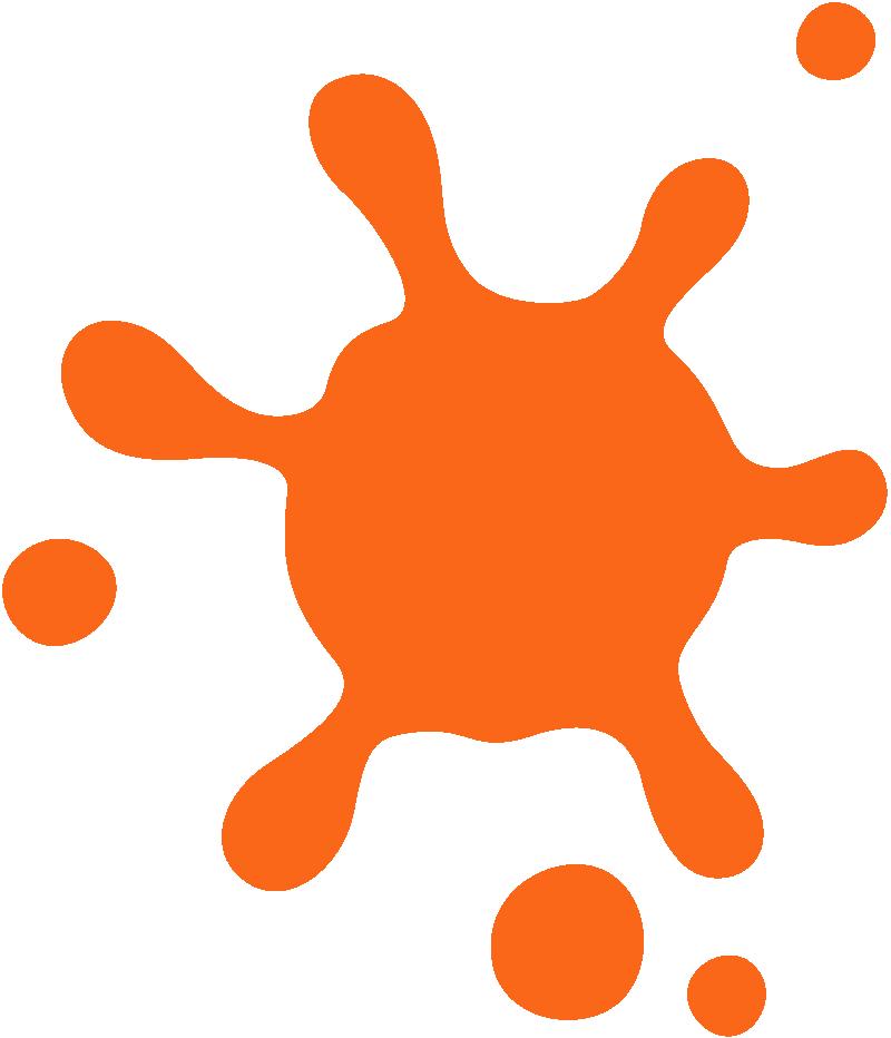 orange splat